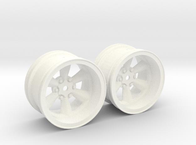 Wheels - 32mm Touring - 934RSRBlack +6mm Offset in White Processed Versatile Plastic