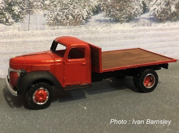 S scale 1/64 - Dodge truck flatbed in Smooth Fine Detail Plastic