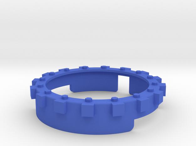 Moto 360 techno bumper in Blue Processed Versatile Plastic