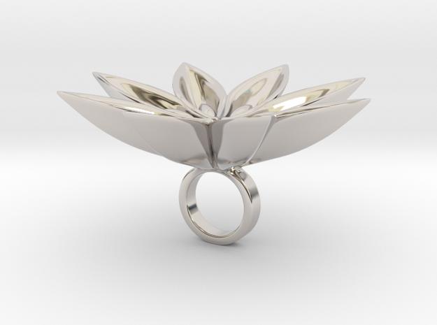 Floachi big - Bjou Designs in Rhodium Plated Brass