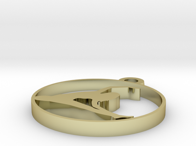 020 in 18k Gold Plated Brass
