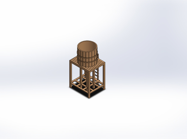 N WATER TOWER in Smooth Fine Detail Plastic