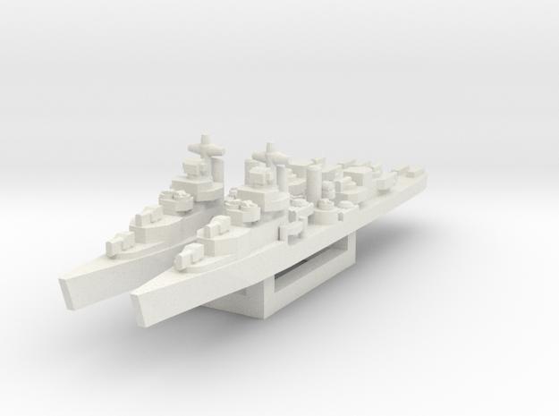 Mahan class destroyer 1/1800 in White Natural Versatile Plastic