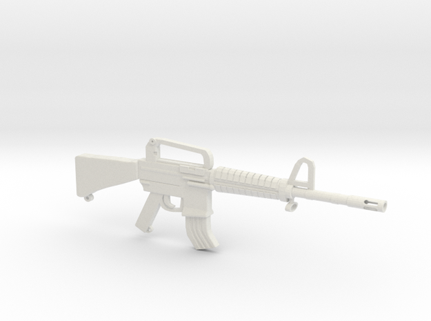 M16A2 v1 in White Natural Versatile Plastic