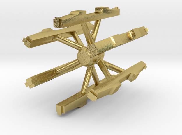 S Scale PRR 2D-T4 Lower Sideframe 6 PK in Natural Brass