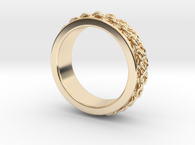 6mm Double Rope Band Ring in 14K Yellow Gold