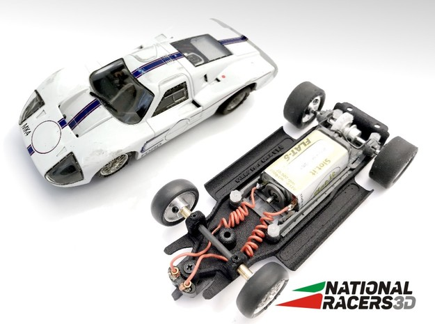 3D Chassis - MRRC Ford GT40 MK4 (Inline) in Black PA12