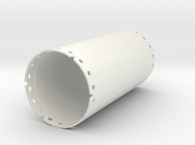 Casing joint 1500mm, length 3,00m in White Natural Versatile Plastic