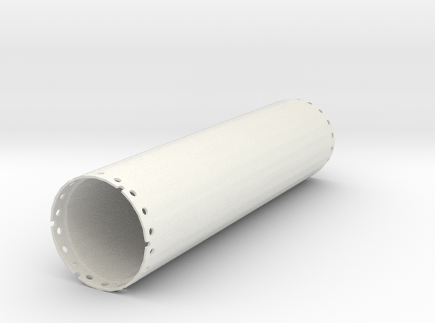 Casing joint 1500mm, length 6,00m in White Natural Versatile Plastic