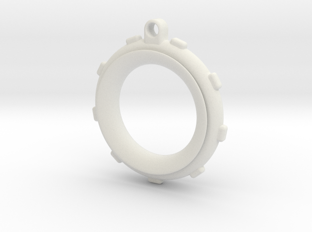 Knot-Aide Fishing Ring in White Natural Versatile Plastic: Extra Small