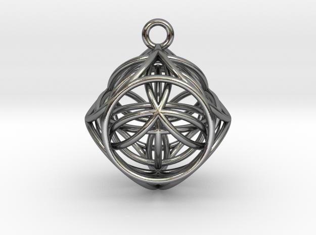 earth in elkaar in Polished Silver (Interlocking Parts)