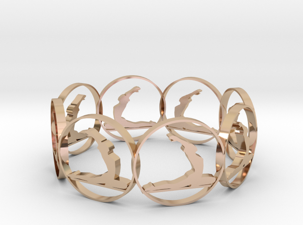 S in 14k Rose Gold Plated Brass