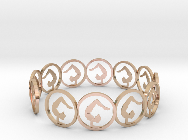 yoga ring (3) in 14k Rose Gold Plated Brass