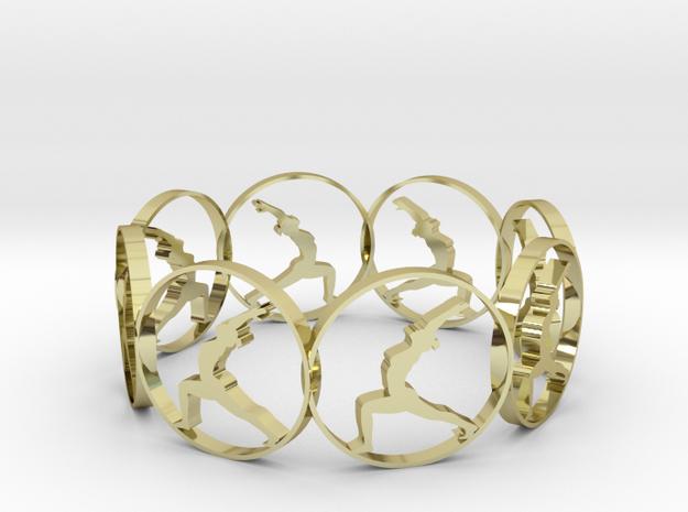 yoga bracelet in 18k Gold Plated Brass