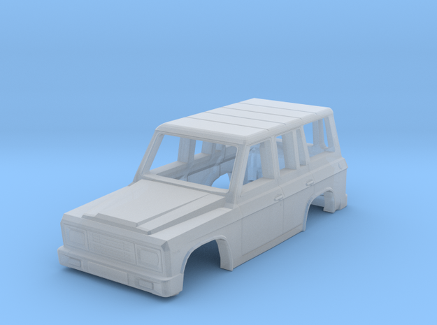 Body of ARO 244 Romanian SUV Scale 1:120 in Smooth Fine Detail Plastic