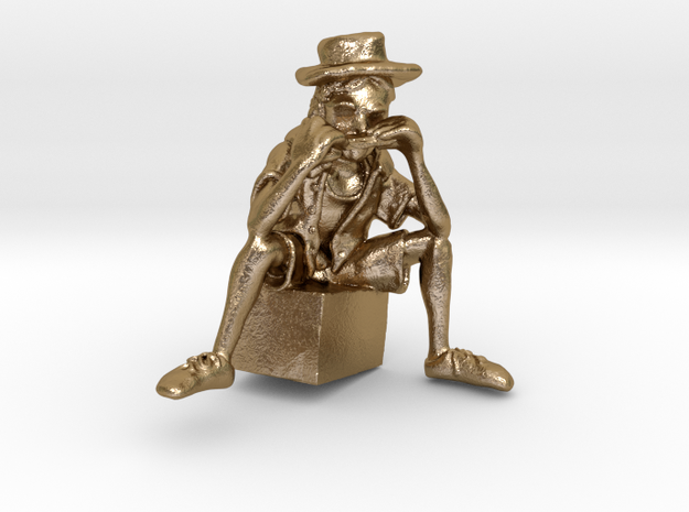 Street Harmony - Sculpted in Virtual Reality in Polished Gold Steel
