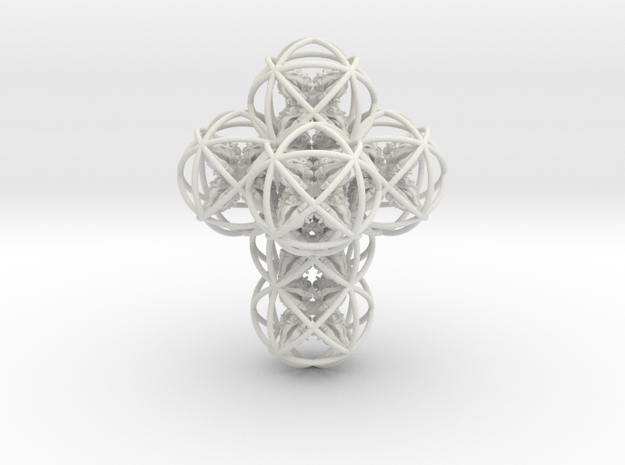 64 Dorje Object in White Natural Versatile Plastic