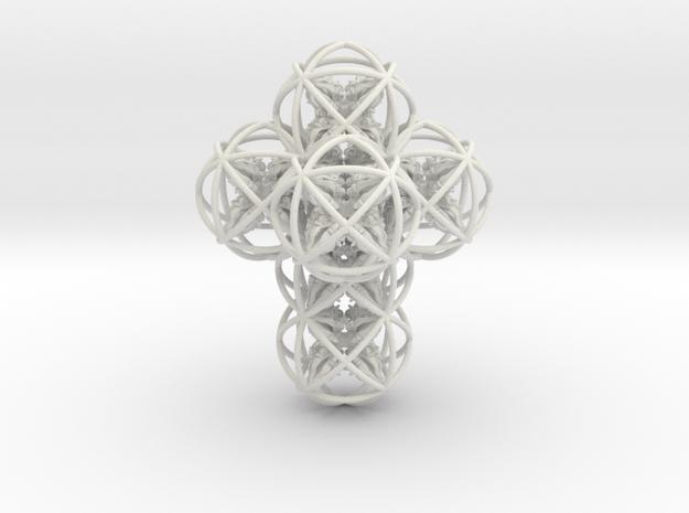 64 Dorje Object in White Natural Versatile Plastic
