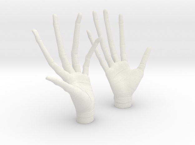 alien professor hands 1/6 scale in White Natural Versatile Plastic