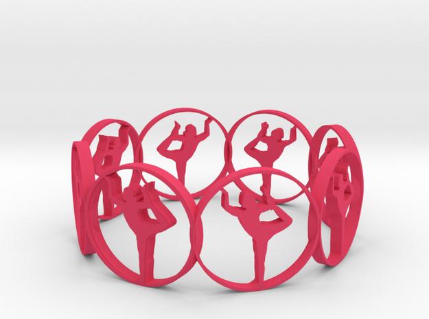 7 ring in Pink Processed Versatile Plastic