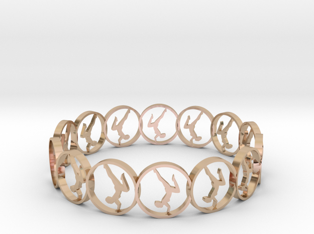 7 ring in 14k Rose Gold Plated Brass