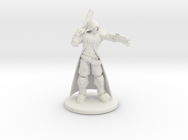 Overwatch Reaper 1/60 miniature for rpg and games in White Natural Versatile Plastic