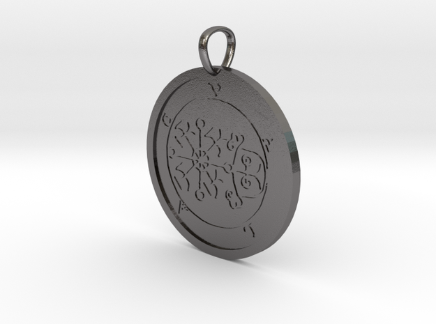 Volac Medallion in Polished Nickel Steel