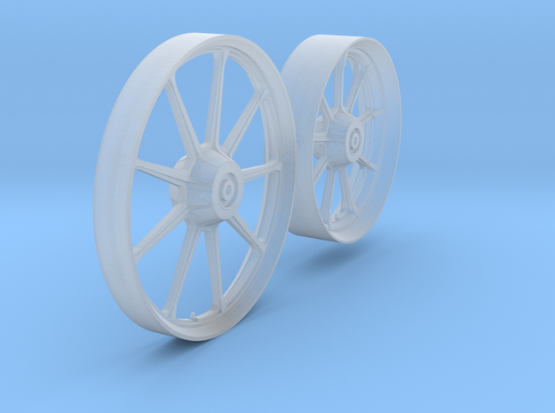 HD_Iron wheels 9B front - rear - 1/9 in Smooth Fine Detail Plastic