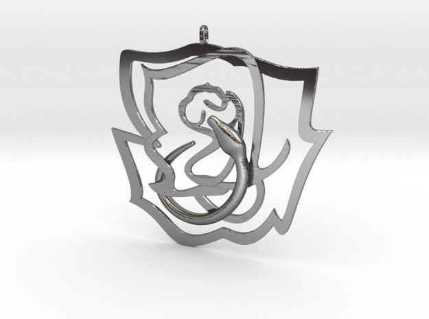 Rose snake in Fine Detail Polished Silver