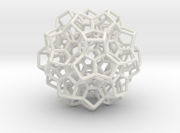 120-cell, equator layer in White Natural Versatile Plastic