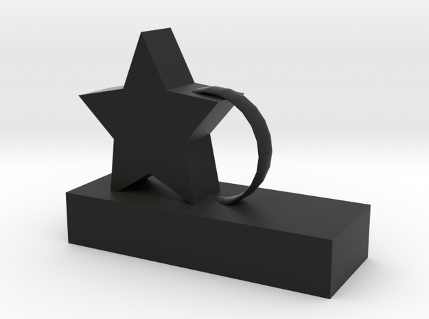 Star/Ring Stature in Black Natural Versatile Plastic