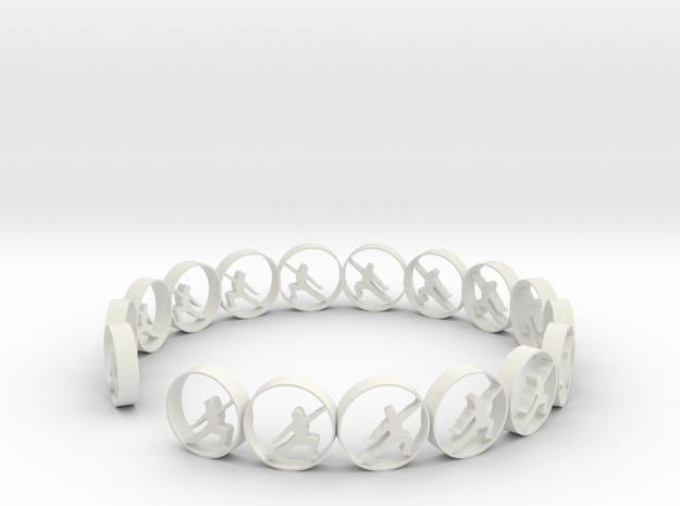 size 6 18.11 mm in White Natural Versatile Plastic
