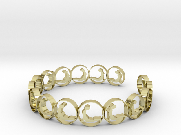 size 6 18.11 mm (3) in 18k Gold Plated Brass