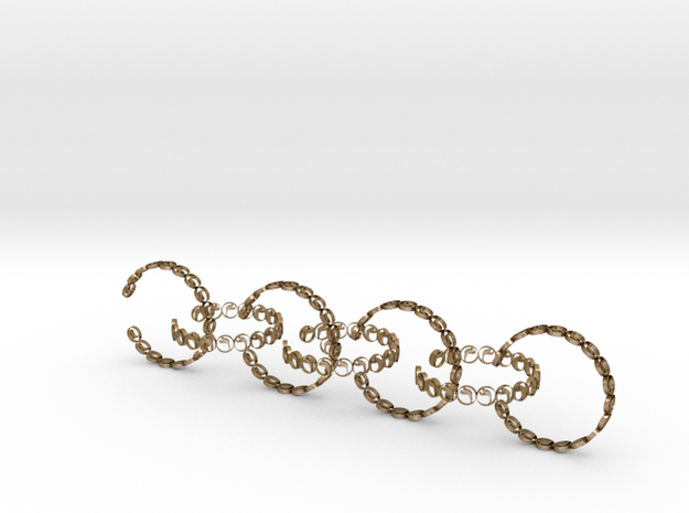 seven size 6 rings 18.11 mm (2) in Polished Gold Steel