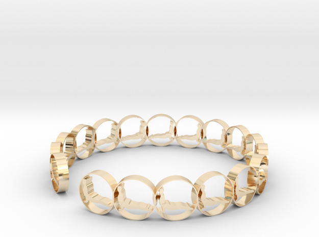 size 6 18.11 mm ring in 14K Yellow Gold