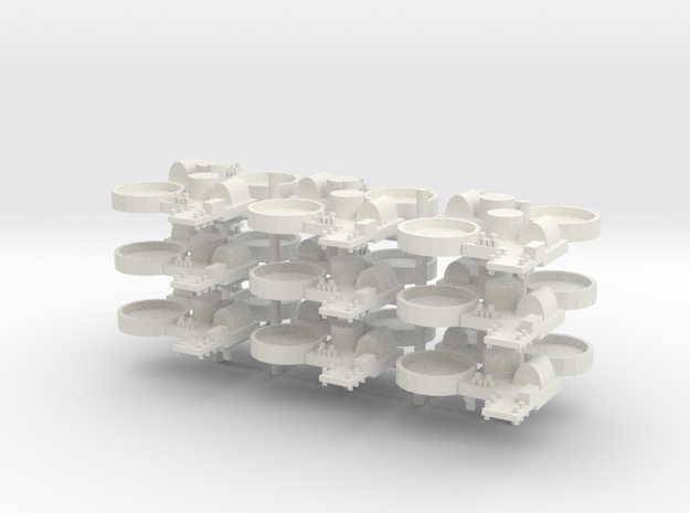 1/285 Naval Base with AA Capabilities Style 2 in White Natural Versatile Plastic