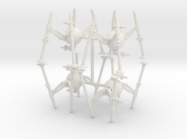 6mm OG 9 Spider Robots in White Natural Versatile Plastic