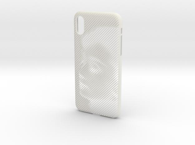iPhone X/Xs case_AUDREY HEPBURN in White Natural Versatile Plastic