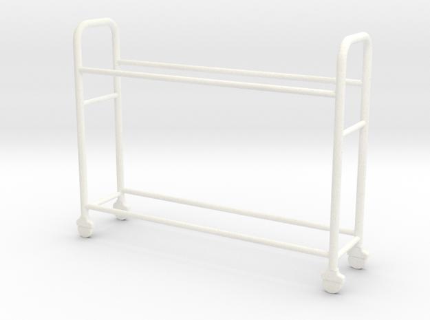 OMCP430004 Tyre rack version 2 (1/43) in White Processed Versatile Plastic