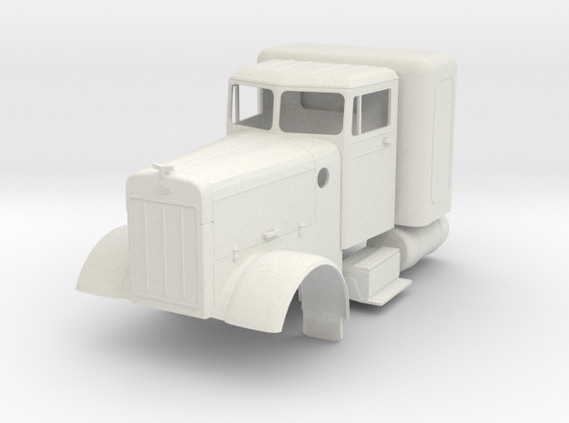 Peterbilt minus air cleaners, visor, headlights in White Natural Versatile Plastic