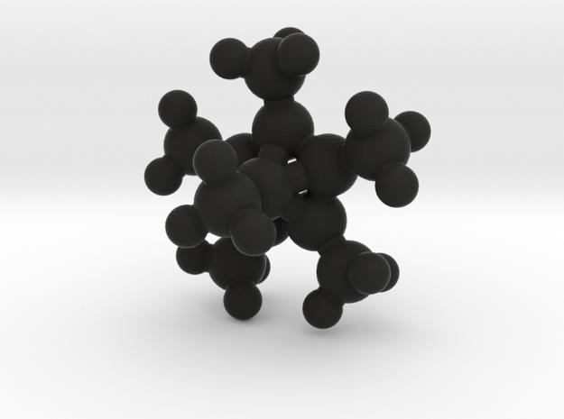 Hexamethylbenzene dication in Black Natural Versatile Plastic: Medium