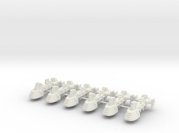carguero artillado x6 in White Natural Versatile Plastic
