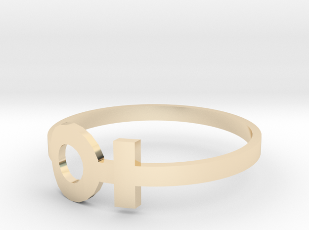 copy of venus ring size 6 in 14k Gold Plated Brass