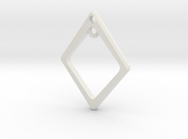 Diamond Charm Frame in White Natural Versatile Plastic
