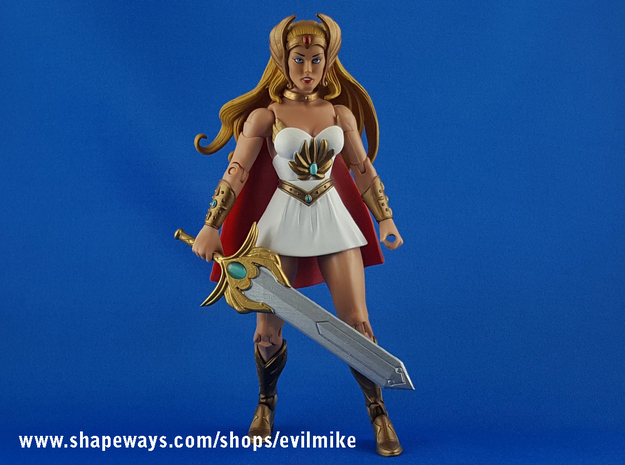 Dreamworks She-Ra Sword in White Processed Versatile Plastic