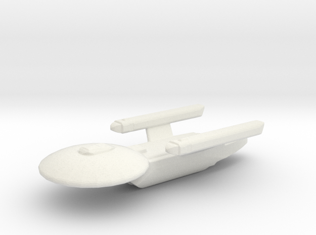 Uss Ceasar in White Natural Versatile Plastic
