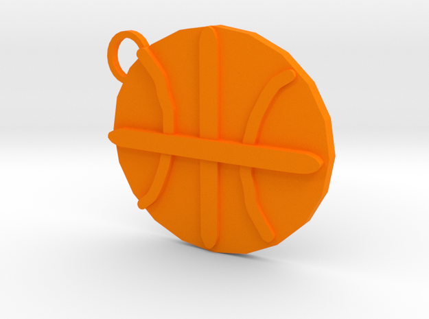 Basketball Keycahin in Orange Processed Versatile Plastic