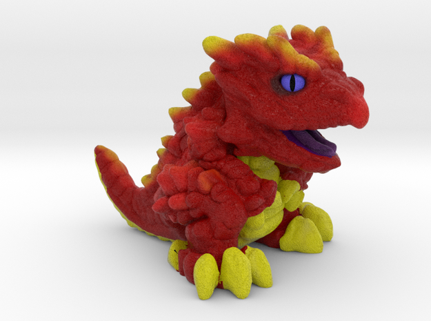 """Chompy the Dragon Hatchling (1"""") in Natural Full Color Sandstone"""