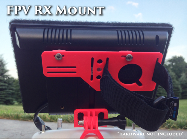 FPV RX mount slim in White Strong & Flexible
