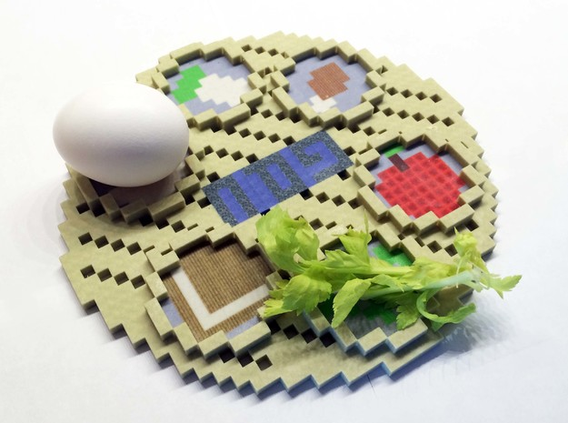 Minecraft Passover Plate in Full Color Sandstone